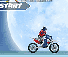 Transformers Christmas Motorbike Racing