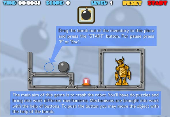 Play Crash The Robot – Physics Game - Transformers Games