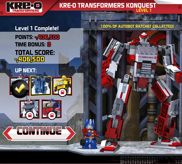 transformers kre-o konquest robot assembled