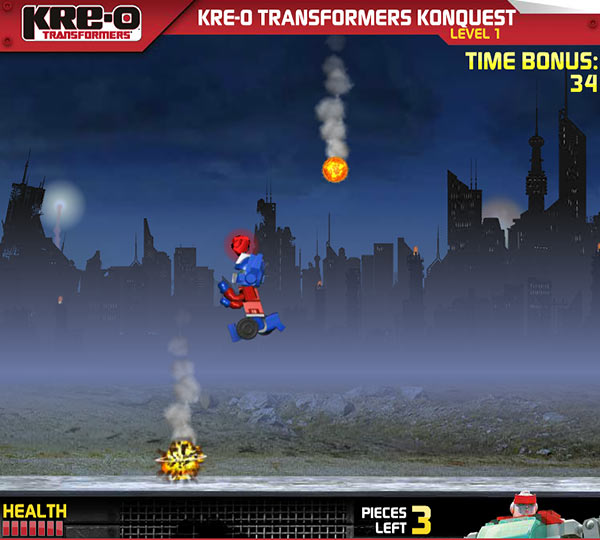 transformers kre-o konquest game screenshot