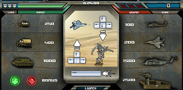 image of Starscream Showdown controls